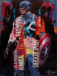 Dark Soldier by Zinsky - Original Painting on Stretched Canvas sized 32x41 inches. Available from Whitewall Galleries